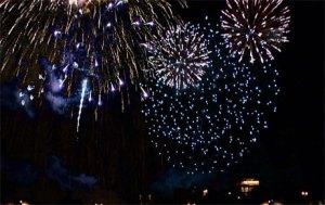 Fireworks after the concert