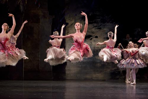 Ballet dancers dancing in Nutcracker